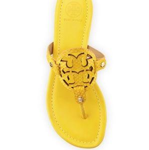 Euc Tory Burch Miller Sandals Sour Lemon Snake 11